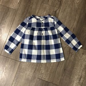 Carters Blue checkered tunic 2t
